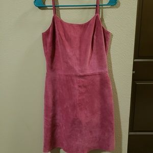 Vintage suede pink dress